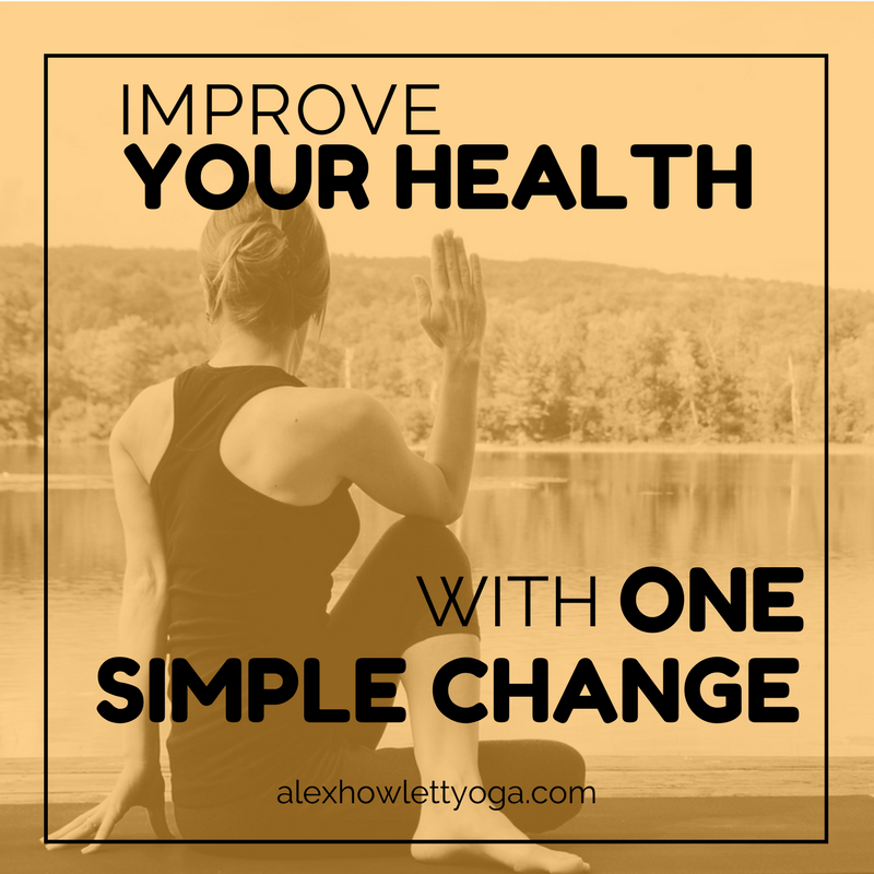 Get healthy with one simple change